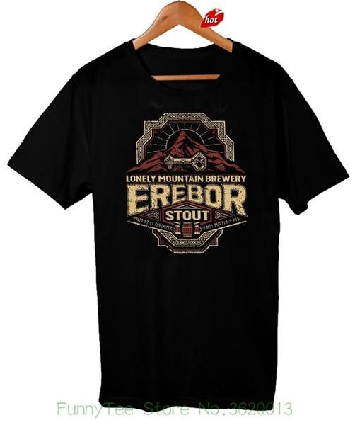 Lord Van De Ringen T-shirt Erebor Stout Drinken Mannen # 039; Tee shirt S Comédie