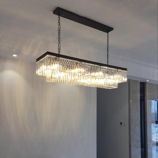 Люстра Освещение Большие Длинные хрустальные люстры Современные люстры для столовой 6 8 Light E14 Clear Кристалл лампы