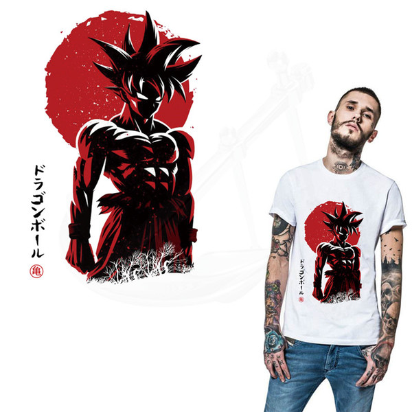 Sıcak Anime DRAGON BALL yamalar giyim DIY T-shirt hoodie giyim Kakarotto yamalar termoadhesivos transferi