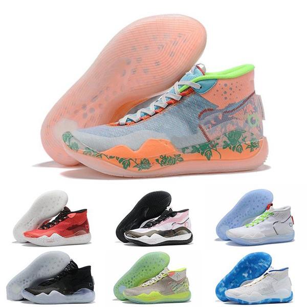 Kevin Durant XII KD 12 EYBL Yıldönümü Spor Basketbol Ayakkabıları Yüksek Kalite Erkek ABD Elite KD12 Tasarımcı Marka Sneakers Boyutu 7-12