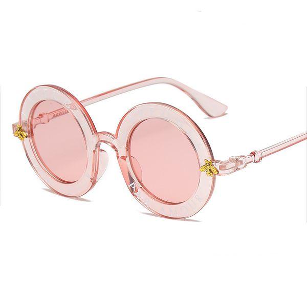 7 color Steampunk Retro Round Frame Sunglasses Sexy Ladies Vintage Bees Sun Glasses Women Brand Designer Fashion Female AA1975
