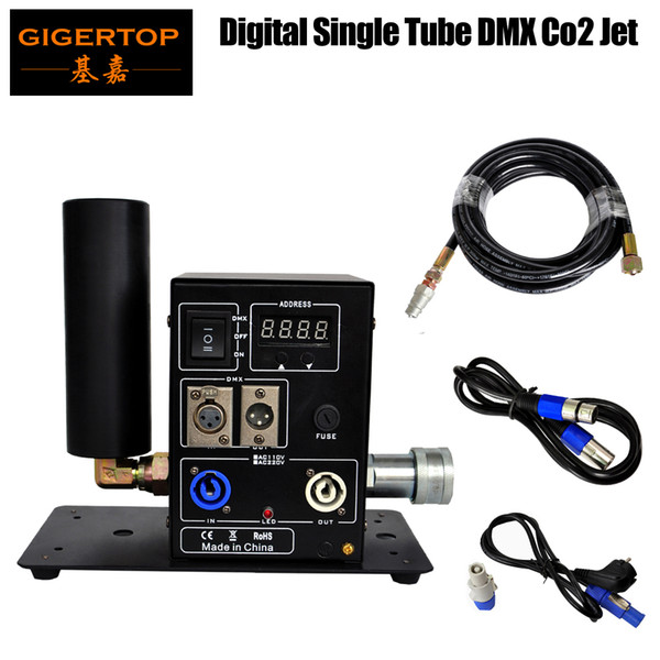 top popular Stage Effect Machine 200W LCD Screen Display Stage Effect 8-10m Height Digital CO2 Machine 100V 220V Power in out Connector TP-T25 2021