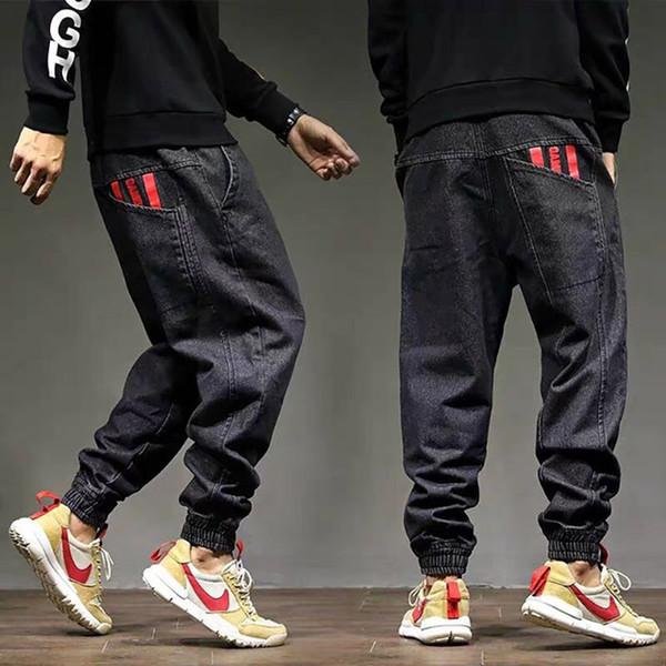 19ss novo designer de moda dos homens melhor venda calças homem marca calças de brim buraco apertado calças de hip hop da motocicleta calças de zíper Fino tamanho Grande 28-42