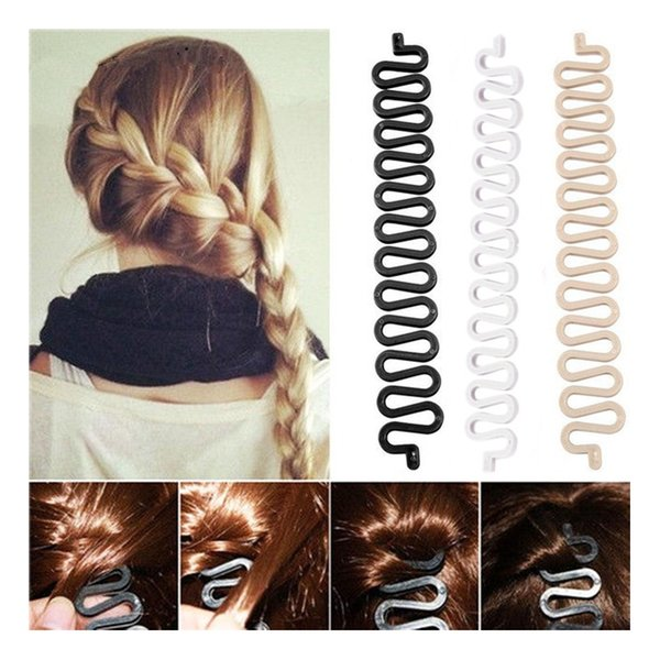 2019 Novo Francês Plait Hair Clips Styling Torção Trança Make Up Profissional Olhando Frace Trança Penteado Preto Colorido