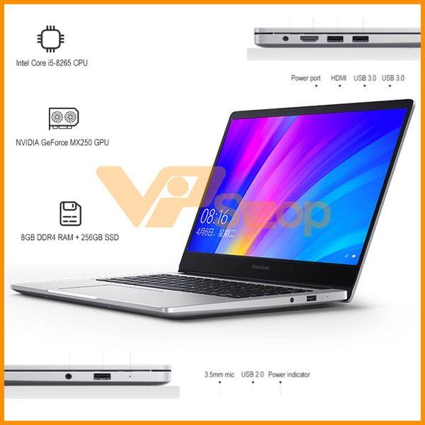 Xiaomi RedmiBook Laptop 8 GB RAM 512 GB SSD 14 Zoll Intel Core i5-8265U i7-8565U 8 GB 512 GB DDR4 1,6 GHz Win10 NVIDIA GeForce MX250 FHD