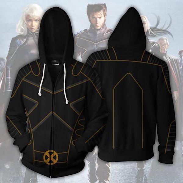 New Fashion Men Cool 3D Deadpool 2 X-men Sweatshirt Hoodies Cosplay Streetwear Hoody Zipper Hoodie hooded Jacket Tops