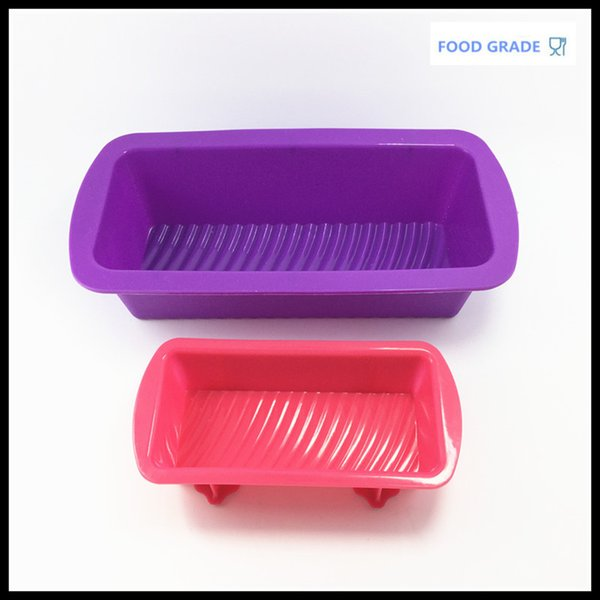2 Pieces Baking Pans Cake Mousse Bread Loaf Silicone Mold Rectangular Toast Mold Kitchen Accessories
