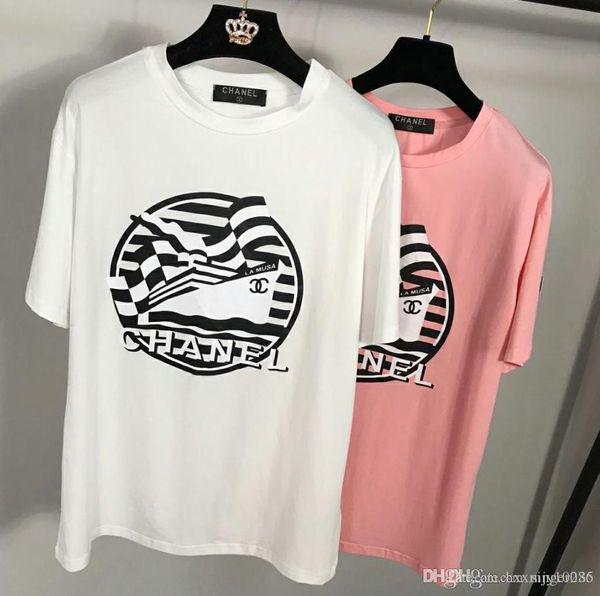 18ss Europe Luxury London Design Neige Tee High Quality Skateboard Cool T-shirt Men Women Clothes Cotton Casual T Shirt Black white