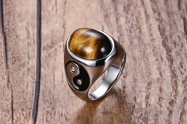 (Senza scatola) Anello in acciaio inossidabile TR1 in oro rosa con cristallo di pietra per donna Ragazza per uomo Coppia in matrimonio con croce