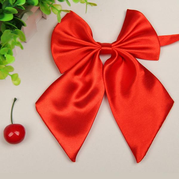 Cravatta cravatta moda unico ragazze delle donne novità big bow cravatta regalo di nozze studentessa scuola uniforme arco trasporto di goccia