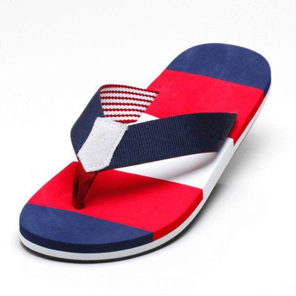 Оптовая продажа 2019 летние мужские тапочки сандалии пляжные тапочки плоский каблук удобные модные тапочки мужчины шлепанцы плюс размер 39 - 45