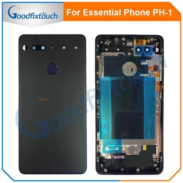 Für Essential Phone Ph-1 PH 1 Rückseite Rückseite Batterieabdeckung Tür Keramik Glasgehäuse Mit Fingerabdruckkamera Glasersatzteil