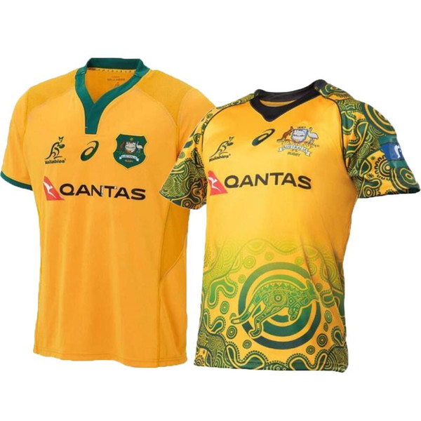 best selling 2018 2019 AUSTRALIA WALLABIES JERSEY AUSTRALIA WALLABIES INDIGENOUS JERSEY rugby Jerseys Commemorative Edition shirts size S -3XL