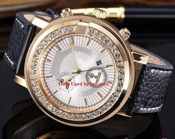 Luxus Gold Präsident Iced Out Diamant Lünette Damen Herren Automatikuhr Tag Datum Armbanduhren