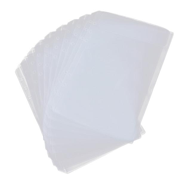 top popular 20x Binder Pocket 6 Holes Notebook Binder Loose Leaf Bag Collection Bags A5 2021