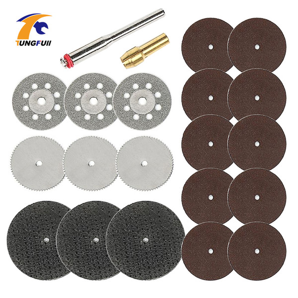 Tungfull 21pcs Cutting Wheel Dremel Accessories Set Cutting Discs Rotary Tool Saw Blade For Wood Resin Disc