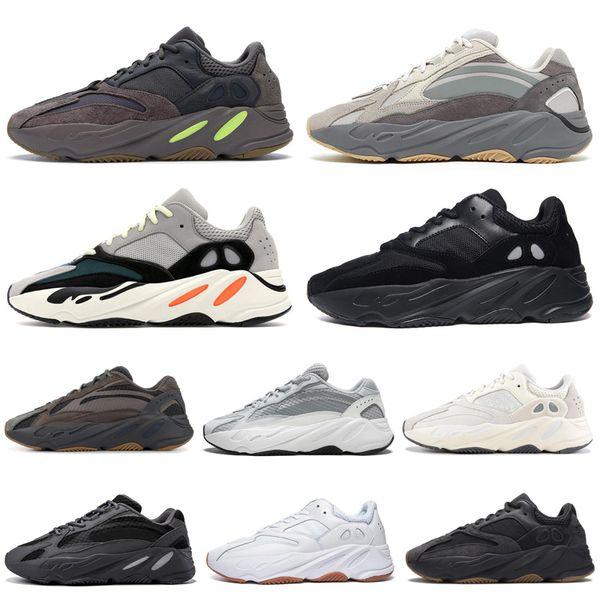 Adidas Yeezy 700 V2 Boost New Kanye West Wave Runner Vanta Tephra Твердые Серые Мужчины Женщины Кроссовки Спор