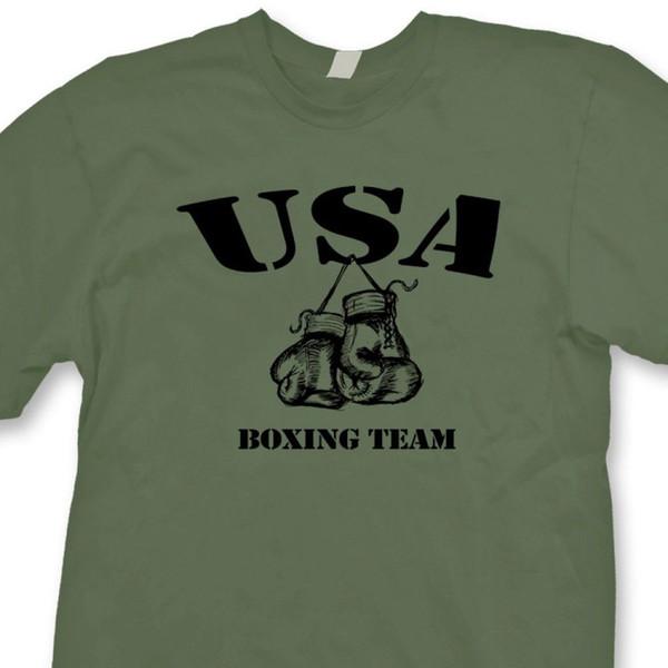 EE. UU. EQUIPO DE BOXEO Boxeador Gym Ring camiseta Lucha Entrenamiento Camiseta Divertido envío gratis Camiseta casual