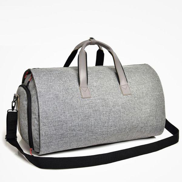 Men Business Trip Travel Duffel Bag Hanging Suit Bag Shoe Clothing Garment Case Big Capacity Organizer Cylinder Shoulder Bags