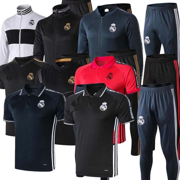 2019 chándal del Real Madrid chandal de fútbol para adultos chándal Maillot De Foot 2019 2020 traje de entrenamiento para adultos survêtement ropa deportiva