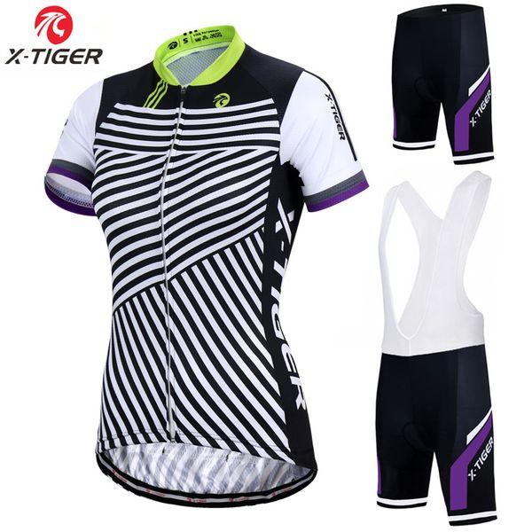 X-Tiger Pro Women Cycling Set Bike Shirt 100% poliestere Bicicletta Abbigliamento Estate Uv Abbigliamento da ciclismo Quick-dry Set maglia da ciclismo