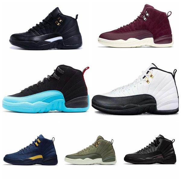 Nike Air jordan Hohe Qualität 2019 New 12s CNY Chinese New Year Weißgold Herren Schuhe 12 FIBA Bumblebee Game Royal Sports Sneakers