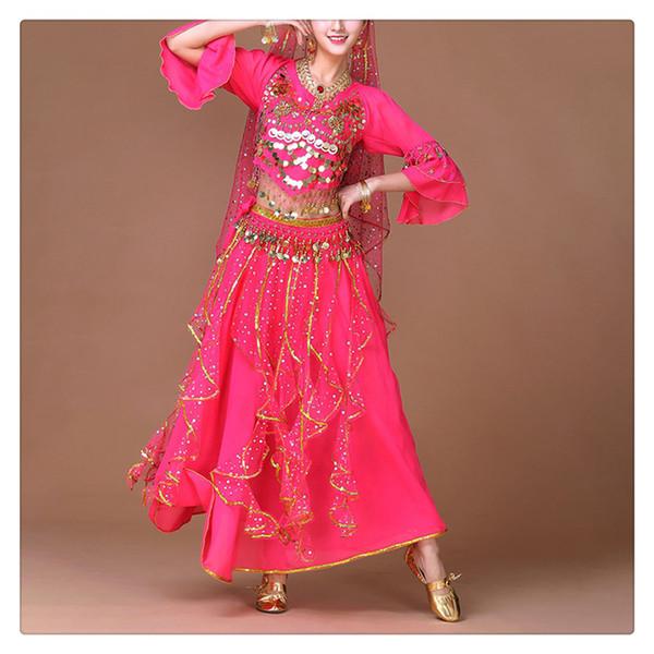 Женщины индийский костюм танец живота сценический костюм 2 шт. / Компл. Или 3 шт. / Компл. Очаровательный и уникальный бесплатная доставка
