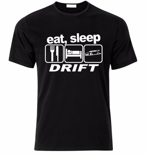T Gömlek 2018 Moda Erkekler Sıcak Satış Erkekler T Gömlek Moda Yemek Uyku Sürüklenme Basit Kısa Kollu Pamuk
