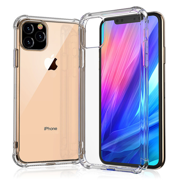 best selling Super Anti-knock Soft TPU Transparent Clear Phone Case Protect Cover Shockproof Soft Cases For iPhone 11 pro max 7 8 plus X XS