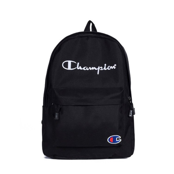 4 Colors C Letter Nylon School Bag High Capacity Backpack Travel Storage Bags Student School Bags Outdoor Bags CCA11622 15pcs