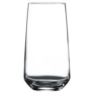 vente en gros sur mesure soufflé à la main verrerie de boisson de qualité supérieure en verre clair highball verre Lal Highball Tumbler verres 16.75oz / 475ml