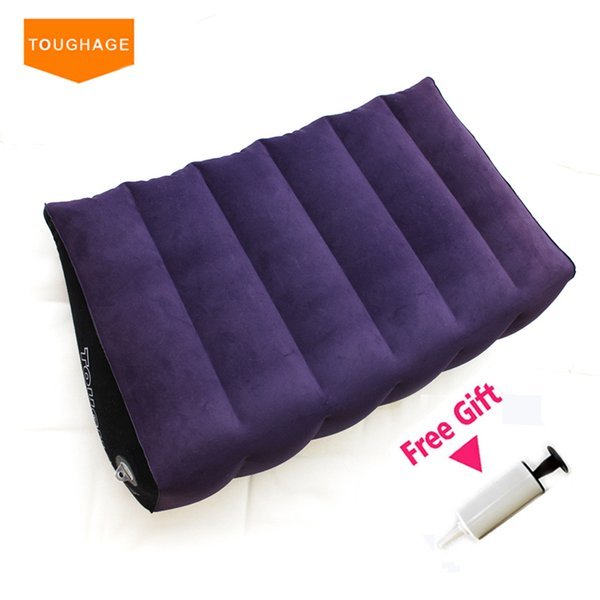 Toughage Inflatable Sex Pillow Wedge Home Sex Sofa Bed Magic Cushion Pillow for Couple Adult Sex Furniture Bed Pad Toys C18112301
