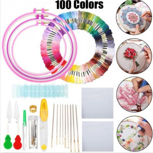 2019 Punch Needle Set Craft Tool for Embroidery Cross-Stitch DIY Sewing Tool T