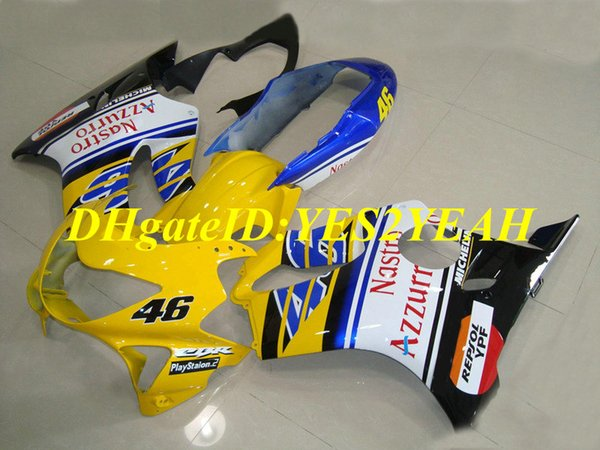 Top-rated Injection mold Fairing kit for Honda CBR600F4 99 00 CBR600 F4 1999 2000 ABS Yellow white blue Fairings set+Gifts HJ14