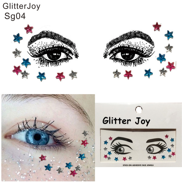 best selling SG04 Simple Star Shape Rhinestone Around Eye and Face Gem Jewel Trendy Party Body Paint Decoration