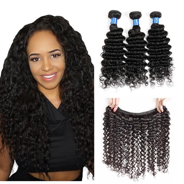 4 пучка глубоких завитков Бразильские волосы с глубокими волнами Бразильские виргинские волнистые волосы Плетение бразильских волос