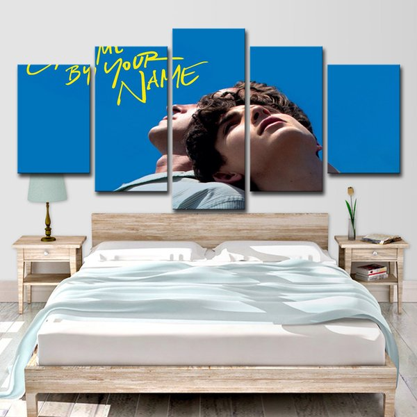 HD Printed 5 Piece Canvas Art Painting Call Me By Your Name Poster and Prints Wall Home Decor Pictures for Living Room