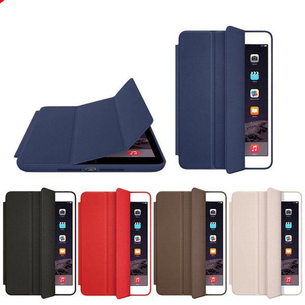 Official Original Case For iPad mini5 7.9 inch PU Leather PC Back Ultra Slim Tri-fold Smart Cover For ipad mini 234 With LOGO