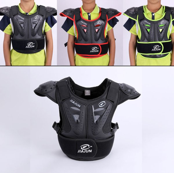 Childrens Professional Armor Vest Motocross Armor Protective Kids Skate Board Skiing Back Support Motorcycle Protective Gear Jackets Guard Shirt Back Support