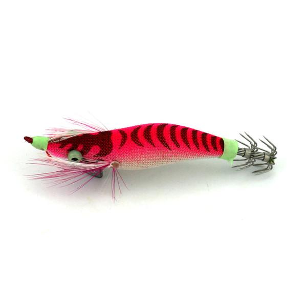 Luminous Wood Shrimp 7.8g 8.2cm Squid hook Fishing lure Night Squid jig Catch Fish Tackle