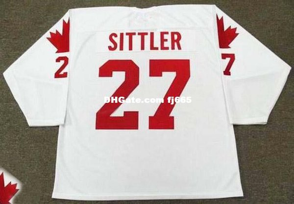 Cheap customize DARRYL SITTLER 1976 Team Canada Retro Top Hockey Jersey Mens Stitched Personalized Jerseys
