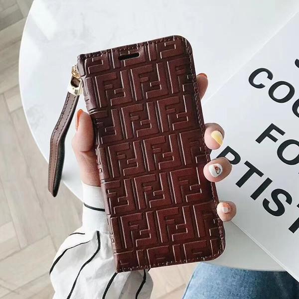 Trend Solid Echtes Leder Folio Cover für Iphone X Case Elegantes Muster Case für Iphone X XR XS MAX Case Volle Schutzhülle mit Halter