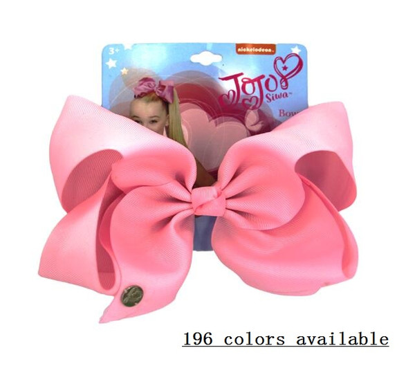 "DROP SHIPPING 6"" jojo bows Big boutique hair bows grosgrain ribbon bow WITH HAIR clip GROSGRAIN RIBBON BOWS for baby girls hot sale 20pcs"