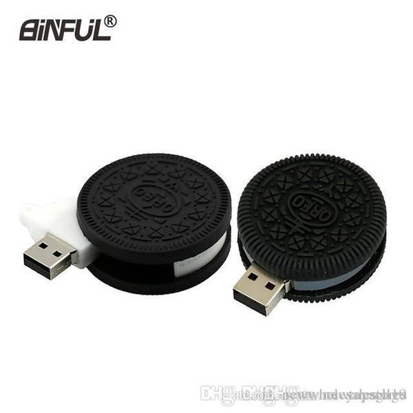 Reino Unido venta al por mayor de alimentos cookie pen drive 64 GB 8 GB 16 GB 32 GB 4 GB pendrive Oreo Biscuit USB flash drive 2.0 100% realmente memoria USB U disco usb2.0