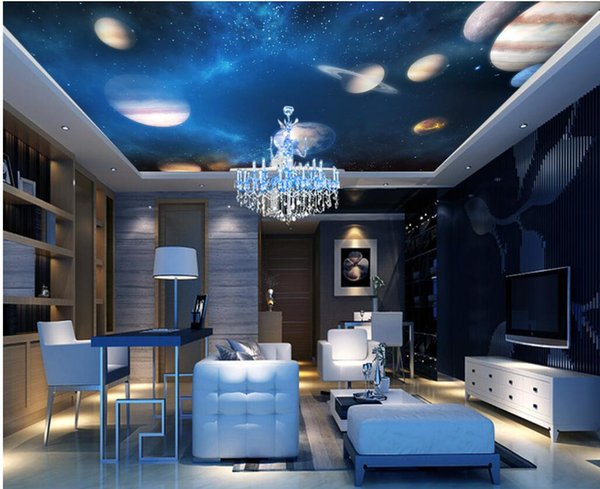 3d Ceiling Murals Wallpaper Custom Photo Fantasy Universe Solar System Starry Home Decor Living Room 3d Wall Murals Wallpaper For Walls 3 D Images For