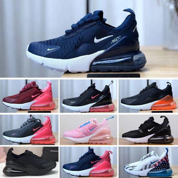 wholesale dealer 19487 a8486 Großhandel Nike Air Max 270 EU Größe 24 34 Neue Marke Kinder Canvas Schuhe  Mode High Low Schuhe Jungen Und Mädchen Sport Canvas Schuhe Und Sport ...