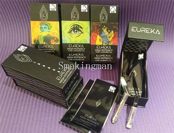 EUREKA Carts 0.8ml 1.0ml Vape Cartuchos Embalaje EUREKA High Potency Ceramic Coil 510 Rosca Atomizador Vaporizador vacío Bolígrafos E Cigarrillos