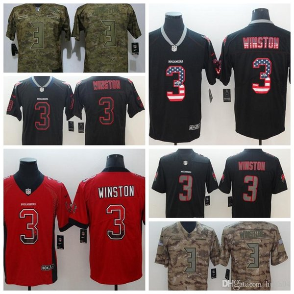 more photos da260 d9d86 2019 Tampa Bay Buccaneers 3 Lights Winston Out Black Color Rush Limited  Football Jerseys Salute Version Jersey Player From Hxxy55, $25.39    DHgate.Com