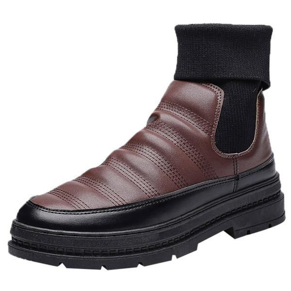 Neige Au À Martin De Imperméable Homme L'eau Chaussures Boots Hiver Épaisse D'hiver Chaud Résistant Chaussures À Acheter L'usure Fond Garder Hommes wXnPk8O0