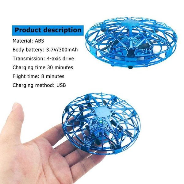 best selling Anti-collision Induction Aircraft Toy UFO Ball Sensing Mini Drone for Kids Toys Y200428